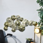 Lilly Pad Wall Art in a Brass Finish