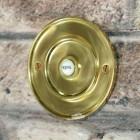 Brass Round Bell Push With Ceramic Press