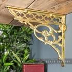 Ornate Brass Serpent Design Shelf Bracket