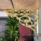 Side View of the Polished Brass Serpent Design Shelf Bracket