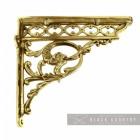 Serpent Design Shelf Bracket Created with Brass