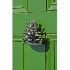 Bright Chrome Pine Cone Door Knocker