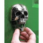 Bright Chrome Skull Door Knocker