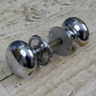 Traditional Door Knobs in Bright Chrome