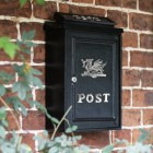 """""""Viserion"""" Bright Chrome Welsh Dragon Wall Mounted Post Box"""