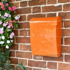 Bright Orange Modern Wall Mounted Post Box