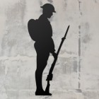 British Soldier Wall Art on a Rustic Grey Wall