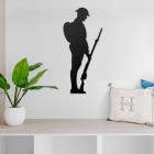 British Soldier Steel Wall Art in a Modern Home