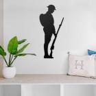 British Soldier Steel Wall Art in a Modern Home
