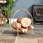 Small Bronze Log Holder in Situ by the Fire