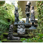 Bronze Finish Wonderland Garden Sculpture Set