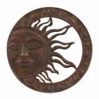 Sun Wall Art in a Bronze Finsih