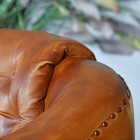 Brown Leather on the Traditional Arm Chair