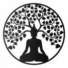 """Buddha Tree"" Wall Art in a Black Finish"