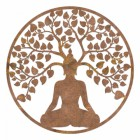 """Buddha Tree"" Wall Art in a Rustic Finish"