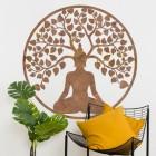 """Buddha Tree"" Rustic Wall Art in Situ in the Home"