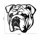 Metal Bulldog Wall Art  to Scale