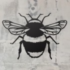 Bumble Bee Wall Art on a Rustic Grey Wall