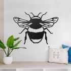 Bumble Bee Steel Wall Art in a Modern Home