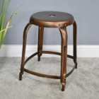 Burnished Copper Effect Stool