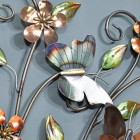 Close-up of the Butterflys on the Wall Art