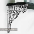 Bright Chrome Shelf bracket - Railway design