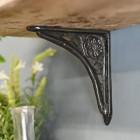 Cast Iron Shelf Bracket with rose motif