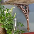 Architecural Copper Finish Cast Iron Shelf Bracket