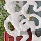White Climbing Man Design Bracket 25 x 12cm