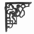 Cast Iron Shelf Bracket finished in Black