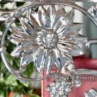 Bright Chrome Sunflower Shelf Bracket 27 x 21cm