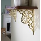 Polished brass Spiders web shelf bracket