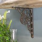 Cast iron decorative shelf bracket