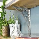 Bright Chrome Coalbrookdale Shelf Bracket 27 x 18cm