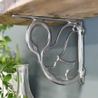 Bright Chrome novelty swan design shelf bracket