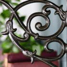 Cast Iron Tulip Design Shelf Bracket 20 x 23cm
