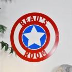 Personalised 'Captain America' Wall Art in Situ