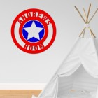 'Captain America' Personalised Wall Art in a Children's Play Room