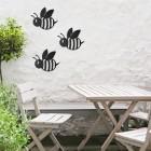 Cartoon Bee in Black Wall Art
