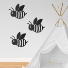 Black Bee Wall Art in Situ