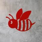 Red Finish on Cartoon Bee Wall Art