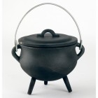 Small Cast Iron Cauldron Finished in Black