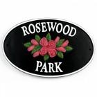 rose design cast iron plaque