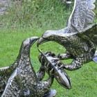Eagles Fighting Sculpture in a Bronze Finish
