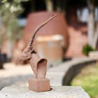 Cast Iron Antelope Garden Bust View From the Side