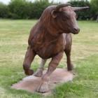 """""""Shepherds Hill"""" Rustic Bull Garden Sculpture"""
