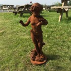 Cast Iron Cherub Statue