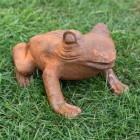 Cast Iron Frog Sculpture
