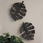 Leaf Design Wall Art Created Out of Cast Iron