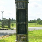Cast Iron Rustic Green Lamp Post With Inspection Chamber